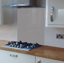 Pastel Grey Coloured Toughened Glass Splashback 600 x 750mm