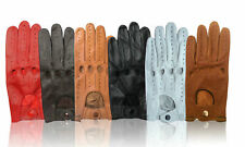 MEN's GENUINE LEATHER DRIVING RIDING GLOVES