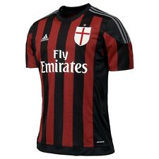 adidas AC Milan 2015-2016 Home Soccer Jersey Brand New Black / Red