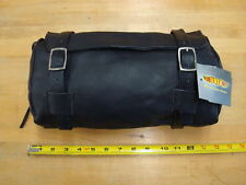 SOFT LEATHER FORK BAG WITH PISTOL POUCH FOR MOTORCYCLES HARLEY & METRIC
