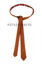 100% New Women Genuine Pure Suede Leather Latest Designer Custom Brown Tie
