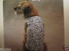 Dog Shirt  Zebra Print East Side Collection  Blue and Brown  New with Tags