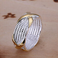 Fashion Men Women Retro Fashion Jewelry Men Ring 925 Sterling Silver Plated Ring