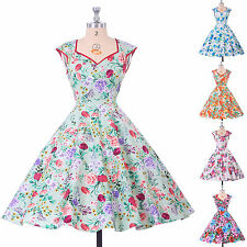 NEW WOMENS 50S 60S DRESS SHORT PROM DRESSES ROCKABILLY SWING GOWN PARTY SUMMER