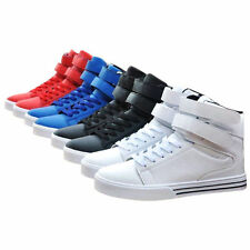 Cool High Top Fashion Sport Running Shoes Mens Boys Faux Leather Casual Sneaker