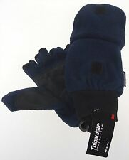Blue Athletech Convertible Work Gloves Mittens 3M Thinsulate Mens Fleece Warm