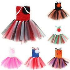 Baby Toddler Infant Girl Party Chiffon Tutu Dress Newborn 0-5 Y Multi-Colors D43