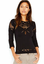 New Free People Intimately Seamless Angelina Reversible Top Blk Sz XS/S-M/L $48