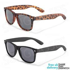 New Black Matt Wayfarer Retro Vintage Classic Mens Ladies Unisex Sunglasses WR27