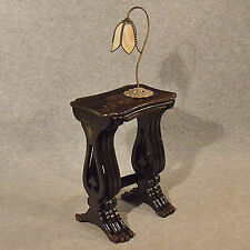 Antique Nest Tables Japanned Ebonised Oriental Asian Quartetto Victorian c1890