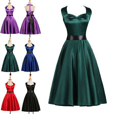 CHEAP Vintage Rockabilly 1950's DRESS Pinup Swing Housewife Evening Party Dress