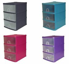 Handy 3 Drawer Tower Storage Unit Pull Out Draws A5 Desktop Drawer - Damaged