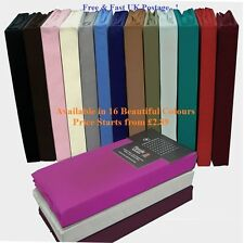 Percale Fitted Sheets Flat Sheets, Valance Sheets Non Iron All Size/Colours