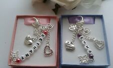 21st 18th 16th 13th 30th 40th 50th Birthday Gift Personalised Name Beads Heart