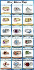 925 Sterling Silver Multi-Color CZ Disney Princess Engagement Ring