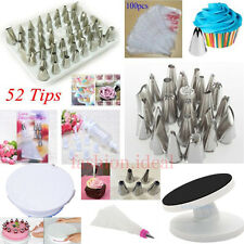 New Icing Piping Nozzles Tips Bags Tool Set Cake Sugarcraft Pastry Decorating #F