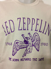 LED ZEPPELIN SONG REMAINS THE SAME SHIRT ON KHAKI jimmy page  robert plant