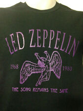 LED ZEPPELIN SONG REMAINS THE SAME SHIRT ON BLACK jimmy page  robert plant
