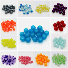 16pcs 10mm New DIY Home Necklace Round Glass Crystal Pearl Loose Spacer Beads