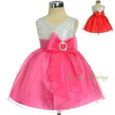 Glitz Sequined Wedding Flower Girl Formal Occasion Party Dress Up Size 0-4 FG316