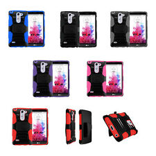 Tactical Heavy Duty Combo Hybrid Stand Protector Cover Phone Case LG G3 Stylus