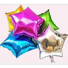 "5 x 18"" Star Shaped Foil Balloon Helium Birthday Wedding Party Decor (Silver)#S"