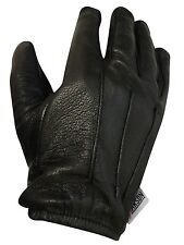 MENS LEATHER POLICE STYLE SEARCH DRIVING GLOVES UNLINED NEW RK-1012