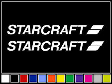"(2) 12"" STARCRAFT Decals Vinyl Stickers Boat Outboard Motor"