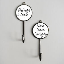 Things I Love/Live Laugh Love Sayings Towel Robe Hanging Bedroom Bathroom Hooks