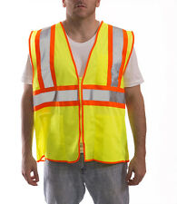 Tingley Rubber Class 2 Mesh Safety Vest, Lime Green/Orange, 4 Pockets  (V70642)