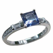 CLASSY 1 CT TANZANITE 925 STERLING SILVER RING SIZE 5-10