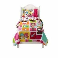 NEW HELLO KITTY & FRIENDS TWIN 7 PC COMFORTER BEDDING & DECALS OR 4 PC SHEET SET