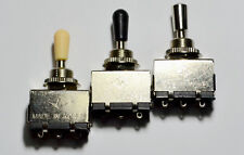 Quality 3 Way Toggle Switch CHROME & Tip Korea Made for Gibson Epiphone Guitar