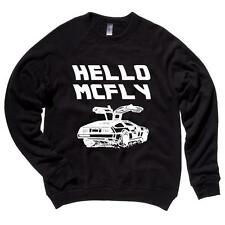 Hello McFly Mens Raglan Sweater Back To The Future Quotes Soft Comfy Top