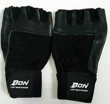 New DON WeightLifting Body Building Gloves Gym Fitness Training Leather Gloves