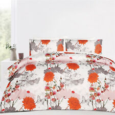 Essence Orange Microfibre Quilt Doona Cover Set - SINGLE DOUBLE QUEEN KING