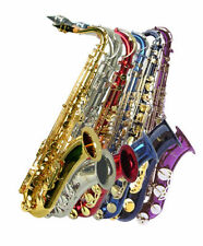 NEW TENOR SAXOPHONE SAX-BLACK BLUE RED PURPLE GOLD SILVER