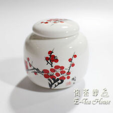 Small Asian Chinese Porcelain Tea Leaf Container / Jar / Caddy / Canisters 8cm