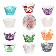 20/60/100pcs Wedding Cupcake Paper Muffin Cake Wrappers Wraps Cup Party Case