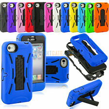 US NEW TUFF Robot Kickstand Hybrid Hard Soft Combo Case Cover for iPhone 4 4G 4S