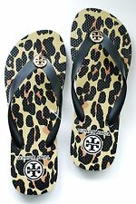 Authentic TORY BURCH THIN leopard PRINTED FLIP FLOPS sz  7 8 9 sandals