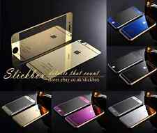 Front Back Mirror Effect Glass Cover For iPhone 6 5 4 With Screen Protector