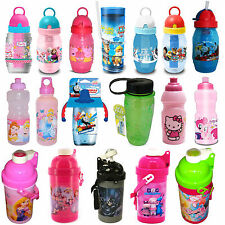 Kids TV Character School Boys & Girls Sports Lunch Drink Water Bottle Brand New