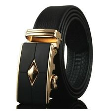 Fashion New Luxury Automatic Buckle Mens Waist Strap Real Genuine Leather Belts