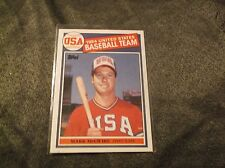 MARK MCGWIRE 1985 TOPPS USA OLYMPIC ROOKIE CARD #401