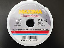 MAXIMA BROWN CHAMELEON 100m SPOOLS FISHING LINE,ONLY £3.99 EACH,CHOICE OF lb B/S