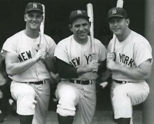 Baseball New York Yankees Mickey Mantle, Roger Marris and Yogi Berra Photo Pictu