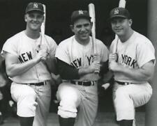 Baseball New York Yankees Mickey Mantle, Roger Marris, Yogi Berra Photo Picture