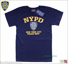UK SELLER NEW YORK CITY LICENSED COLOUR NYPD BLUE T SHIRT POLICE CAP DEPARTMENT