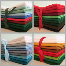 Christmas Wool Blend Felt Fabric Craft Pack **Choice of colours & pack sizes**